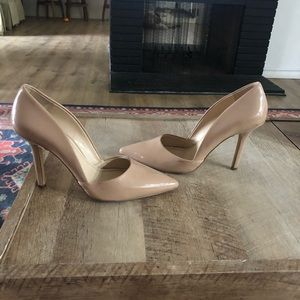 Nude BCBGeneration pointed pumps
